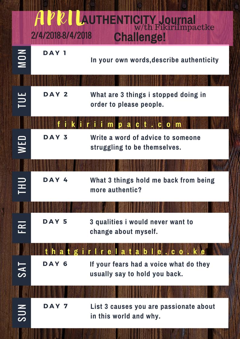 journal challenge April